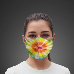 Mascarilla Higiénica reutilizable Yellow Tie-dye