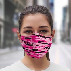 Mascarilla camuflaje rosa