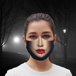 Mascarilla - Halloween - Blood Lips