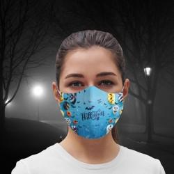 Mascarilla - Halloween - Blue