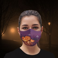 Mascarilla - Halloween - Purple Night