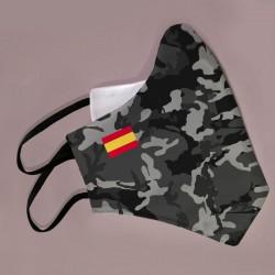 Mascarilla camuflaje gris bandera España