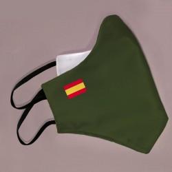 Mascarilla verde bandera España