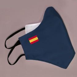 Mascarilla azul bandera España